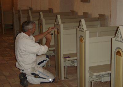 Malerarbejde renovering af kirke og bevaringsværdige bygninger - Bladguld